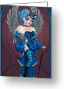 Corset Greeting Cards - Emma Greeting Card by Cristina McAllister
