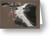 Pet Pastels Greeting Cards - Emma Greeting Card by Terry Kirkland Cook
