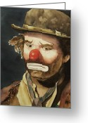 Clown Greeting Cards - Emmett Greeting Card by Linda Halom