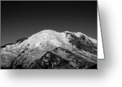 Snow-cap Greeting Cards - Emmons and Winthrope Glaciers on Mount Rainier Greeting Card by Brendan Reals