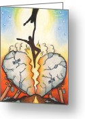 Sad Greeting Cards - Emotional Rescue Greeting Card by Amy S Turner