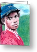 Michael Jackson Greeting Cards - Empathetic Greeting Card by Cassandra Allsworth