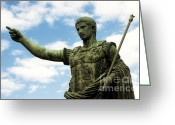 Emperor Greeting Cards - Emperor Caesar Augustus Greeting Card by Fabrizio Troiani