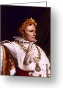 Emperor Greeting Cards - Emperor Napoleon Bonaparte  Greeting Card by War Is Hell Store