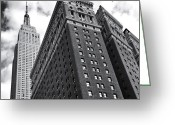 Sky Greeting Cards - Empire State Building - New York City Greeting Card by Vivienne Gucwa