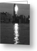 City Greeting Cards - Empire State Building NYC  Greeting Card by Steven Huszar
