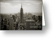 Most Greeting Cards - Empire State Greeting Card by Ken Marsh