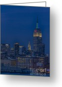 New Britain Greeting Cards - Empire State Greeting Card by Susan Candelario