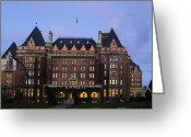 Greaves Greeting Cards - Empress Hotel Greeting Card by John  Greaves