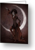Evil Greeting Cards - Empress Invidia Greeting Card by Christopher Ables