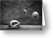 Surrealism Greeting Cards - Emptiness II Greeting Card by Photodream Art