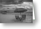 Umbrellas Greeting Cards - Emptiness Greeting Card by Jeff Breiman