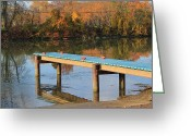 Erie Barge Canal Greeting Cards - Empty Dock Greeting Card by Heather Maitland-Schmidt