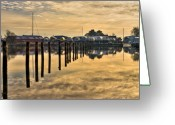 Denmark Greeting Cards - Empty Marina Greeting Card by Gert Lavsen