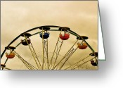 Ferris Wheel Greeting Cards - Empty Seats Greeting Card by Bob Orsillo