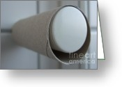 Toilet Paper Greeting Cards - Empty toilet paper roll Greeting Card by Matthias Hauser