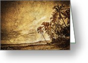 Philippines Art Greeting Cards - Empty Tropical Beach 3 Greeting Card by Skip Nall