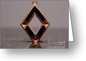 Art Deco Jewelry Jewelry Greeting Cards - Enamels 31 Greeting Card by Dwight Goss