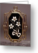 Art Deco Jewelry Jewelry Greeting Cards - Enamels 45 Greeting Card by Dwight Goss