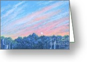 Giclee Pastels Greeting Cards - enchanced- Catching the SunSet Greeting Card by Penny Neimiller