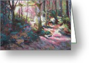 Washington Pastels Greeting Cards - Enchanted Forest Greeting Card by Mary McInnis