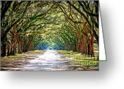 Live Art Greeting Cards - Enchanted Journey - Digital Art Greeting Card by Carol Groenen