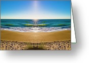 Topsail Greeting Cards - Enchanted Mirror Greeting Card by East Coast Barrier Islands Betsy A Cutler