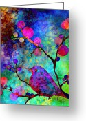 Blossoms Greeting Cards - Enchantment Greeting Card by Robin Mead