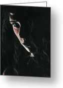 Long Hair Greeting Cards - Enchantress Greeting Card by Richard Young