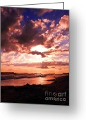 Grayton Beach Greeting Cards - End of Day Greeting Card by Dawn Williamson