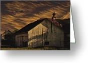 Door County Landmark Greeting Cards - End of Day Greeting Card by Dennis Wright