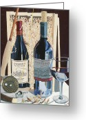 Wine  Greeting Cards - End of the Day  Greeting Card by Christopher Mize