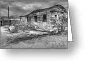 Kelso Greeting Cards - End of the Dream Monochrome Greeting Card by Bob Christopher