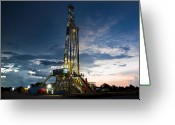 Driller Greeting Cards - End Of The Hitch Greeting Card by Jonas Wingfield