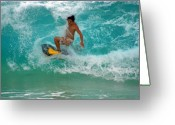Boogie Board Greeting Cards - End of the Line Greeting Card by Kevin Smith