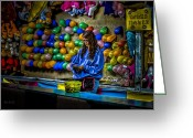 Balloon Photo Greeting Cards - End of the night Greeting Card by Bob Orsillo