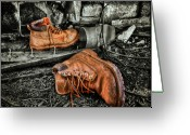 Boot Greeting Cards - End of the Road Greeting Card by Evelina Kremsdorf