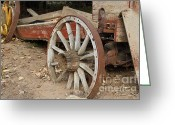 Dilapidated Greeting Cards - End Of The Trail . 7D10286 Greeting Card by Wingsdomain Art and Photography