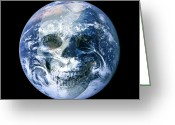 Judgement Day Greeting Cards - End Of The World, Conceptual Artwork Greeting Card by Victor De Schwanberg