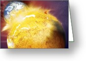 Judgement Day Greeting Cards - End Of The World, Conceptual Image Greeting Card by Claus Lunau