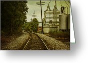 Yellow Line Digital Art Greeting Cards - Endless Journey Greeting Card by Andrew Paranavitana