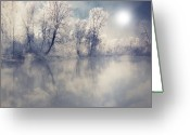 Frost Greeting Cards - Endless Greeting Card by Philippe Sainte-Laudy Photography