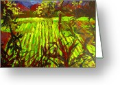 Open Range Greeting Cards - Endless Vineyards Greeting Card by Patricia Awapara