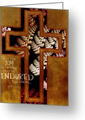 Biblical Mixed Media Greeting Cards - Endurance Greeting Card by Bonnie Bruno