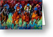 Churchill Downs Greeting Cards - Endurance Greeting Card by Debra Hurd