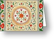Fine Art - Still Lifes Greeting Cards - Enduring Love Floral Painting Greeting Card by Enzie Shahmiri