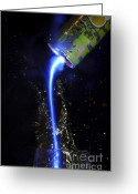 Pouring Greeting Cards - Energy drink Greeting Card by Guy Viner