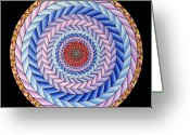 Mandalas Art Pastels Greeting Cards - Energy in Movement Greeting Card by Marcia Lupo