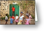 La Maison Des Esclave Greeting Cards - Enfants de Goree Greeting Card by Eugene Simon
