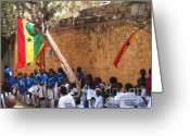 La Maison Des Esclave Greeting Cards - Enfants de Goree Greeting Card by Fania Simon